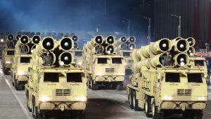 Generalsekreterare Kim Jong-Un meddelade om en upptrappad militär upprustning under det nordkoreanska arbetarpartiets kongress i Pyongyang.
