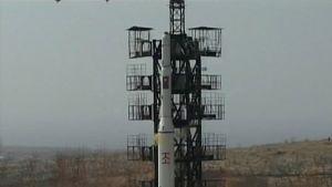 Nordkorea sade sig ha skjutit upp en satellit den 9 april 2009.