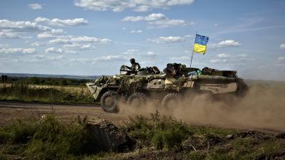 Ukrainska arméns pansarvagn.