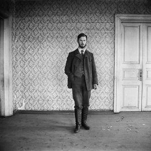 Kai Donner i Tymsk. Tym-floden 1912. Foto: Kai Donner, Museiverket.