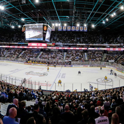 Helsingforsarenan under en ishockeymatch.