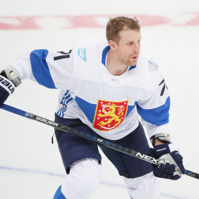 Leo Komarov spelade World Cup i Toronto i september 2016.