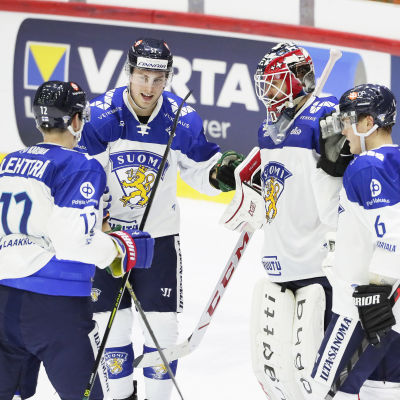 Finland jublar efter EHT-segern mot Ryssland.