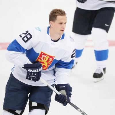 Lauri Korpikoski spelade World Cup för Finland 2016.