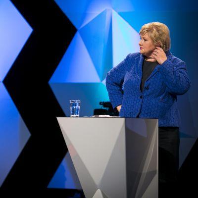 Arbeiderpartiets jens Stoltenberg ser ut att förlora mot Erna Solberg, Høyre