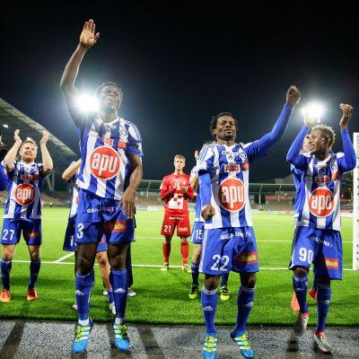 HJK juhli voittoa RoPSista 21. syyskuuta 2016.