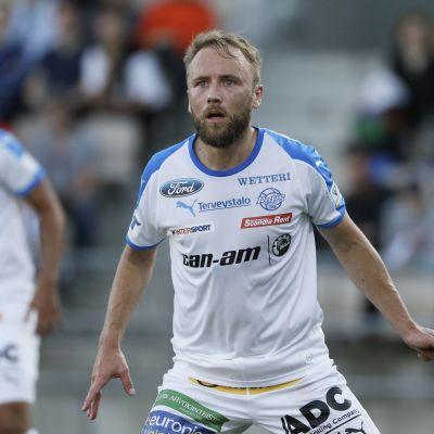 ROPS:n Eetu Muinonen jalkapallon Veikkausliigan ottelussa HJK vs ROPS