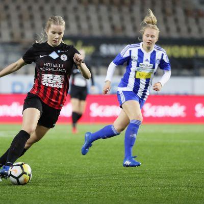 Eva Nyström PK, Annika Huhta HJK 2018