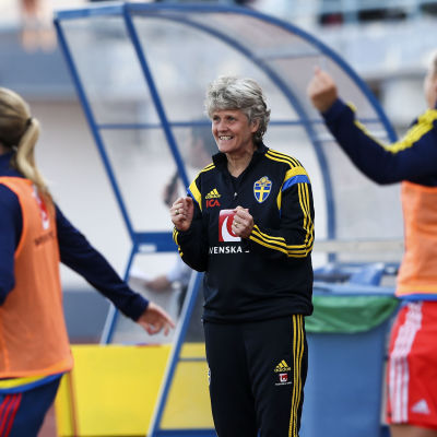 Pia Sundhage har tränat Sverige sedan år 2012.