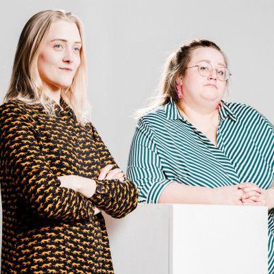 Illustratören Elin Löf och författaren Ellen Strömberg.