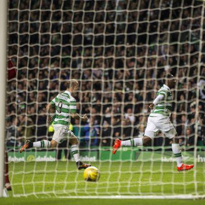 Moussa Dembele iski Celticin jatkoon Mestarien liigassa.