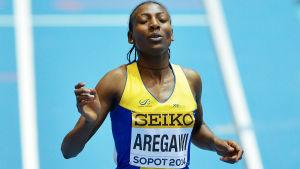 Abeba Aregawi har löpt färdigt för Hammarby.
