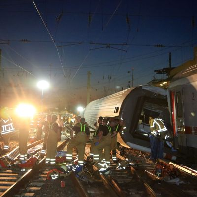 Tågolycka i Mannheim i augusti 2014.