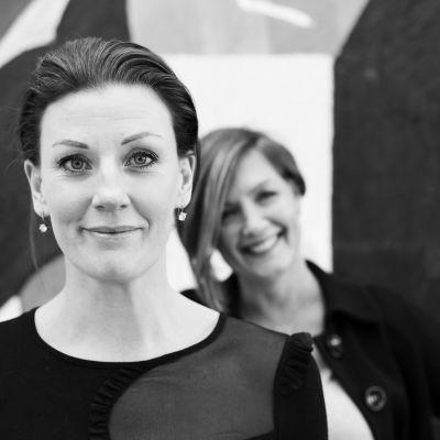 Sandra Helsing och Maria Sundblom Lindberg i bild.