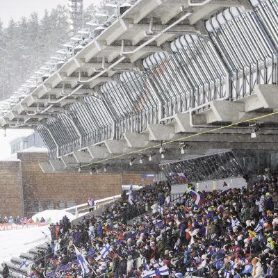 Publik på världscuptävlingarna 2016 i Lahtis.