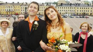 Hessun (Petteri Jamalainen) ja Dannyn (Anni Turunen) häät (2004).
