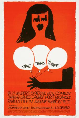 Yks' kaks' kolme -elokuvan julisteen suunnitteli Saul Bass.