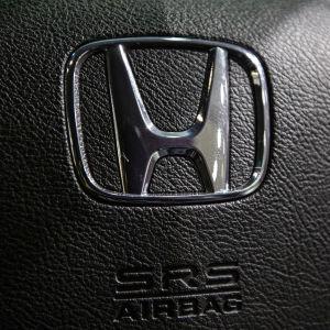 Förarens krockkudde i en bil av märket Honda.