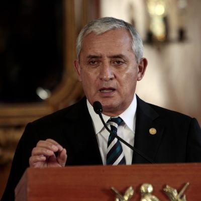 Guatemalas president Otto Perez Molina.