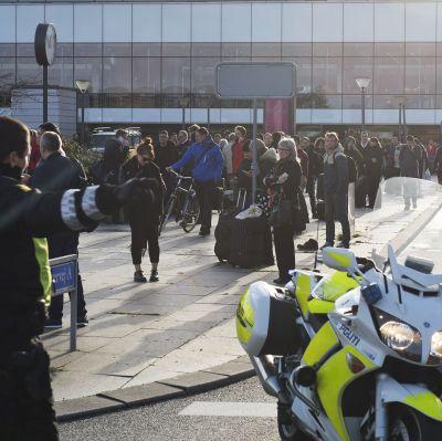 Kastrups flygplats i Köpenhamn evakuerades den 18 november 2015.
