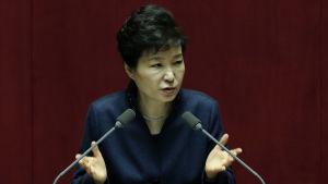 Sydkoreas president Park Geun-Hye krävde en helt ny linje gentemot Nordkorea i ett tal inför det sydkoreanska parlamentet