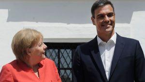 Angela Merkel och Pedro Sánchez.