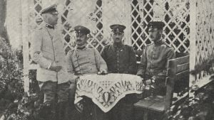 De finska jägarnas tyska officerare: Just, Knath, Bade och Heldt