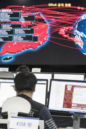 Sydkoreanska experter som försöker slå fast vem som låg bakom den globala cyberattacken vill inte utpeka Nordkorea i det här skedet