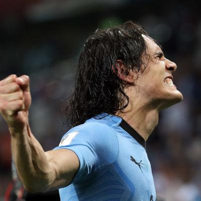 Edinson Cavani var Uruguays stora hjälte i åttondelsfinalen mot Portugal.