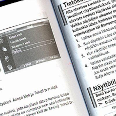 Aukeama tietokonenäytön ohjekirjasta