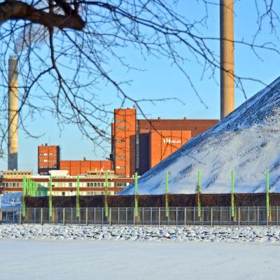 Hanaholmens kolkraftverk i Helsingfors.