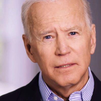 Joe Biden i en bild från valvideon