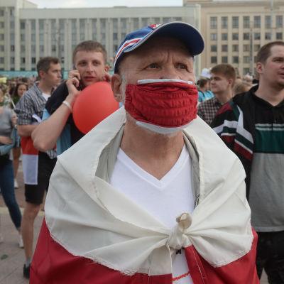 Demonstranter i Belarus.