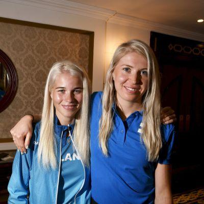Alisa Vainio ja Sara Kuivisto