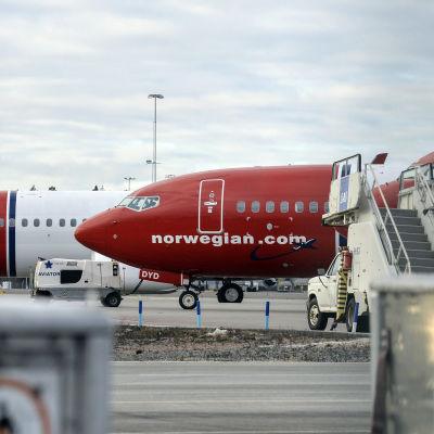 Norwegian-plan på Arlanda den 5 mars 2015.