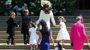 Cathrine, lilla prins George och andra barn