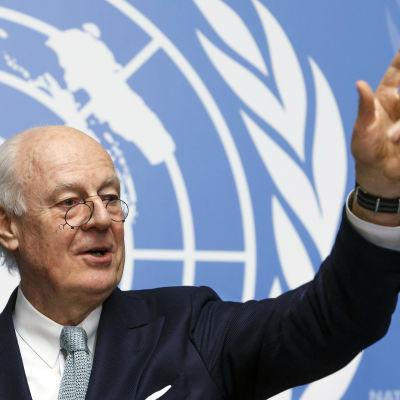 FN:s särskilda sändebud till Syrien, Staffan di Mistura.