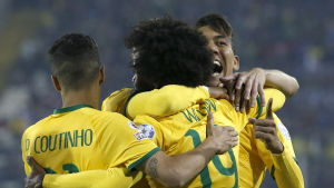 Brasilien firar mål