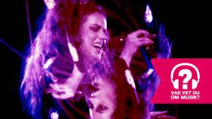 Grace Slick sjunger i en mikrofon.