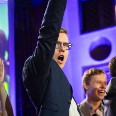 Finsk ungdoms ordförande Asseri Kinnunen.