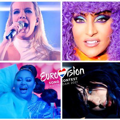 Kuvakollaasi tämän vuoden Euroviisukilpailijoista.