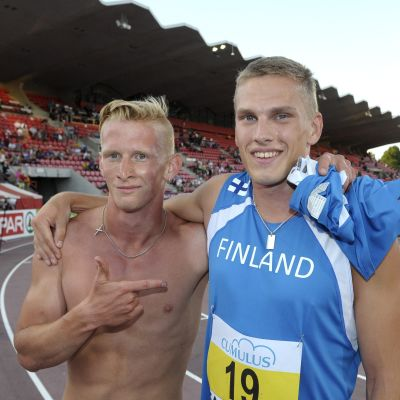 Otto Ylöstalo och Juuso Hassi, U23-EM, juli 2013
