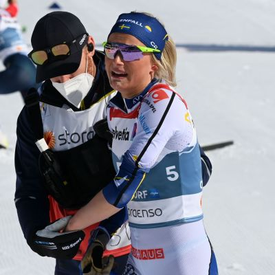 Frida Karlsson 30 km:n kilpailun jälkeen