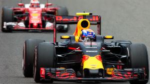 Max Verstappen och Kimi Räikkönen, Spa 2016.
