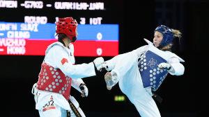 Suvi Mikkonen vid OS i London.