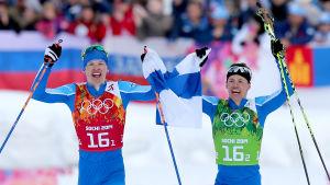 Iivo Niskanen och Sami Jauhojärvi, OS 2014.