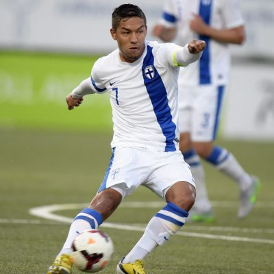 Moshtagh Yaghoubi, U21-landslaget, september 2015.