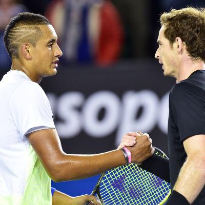 Andy Murray vann över Nick Kyrgios i Australiska öppna 2015.