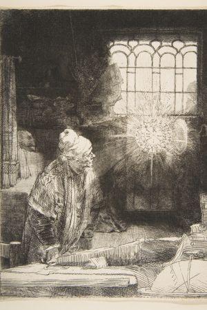 Faust. Rembrandt van Rijn (1606–1669), n. 1652