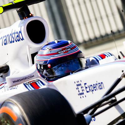 Valtteri Bottas i farten i Italien.